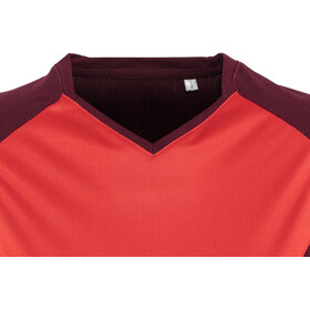 PEARL iZUMi Launch Short Sleeve Jersey Women cayenne/port vista